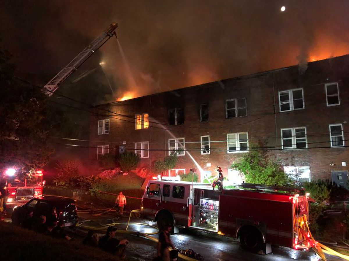 Dozens of firefighters respond to three-alarm fire in Walnut Hills