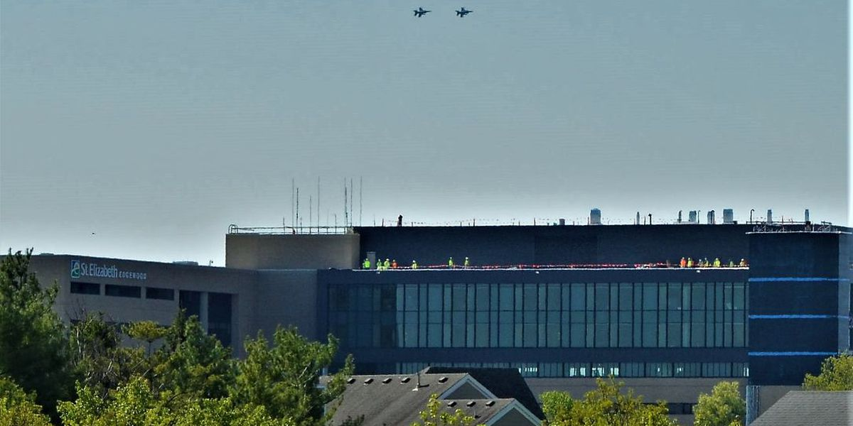 VIDEO: Ohio Air National Guard F-16 flyover honors front-line workers