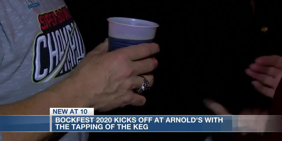 Bockfest 2020 kicks off at Arnold's with the tapping of the keg