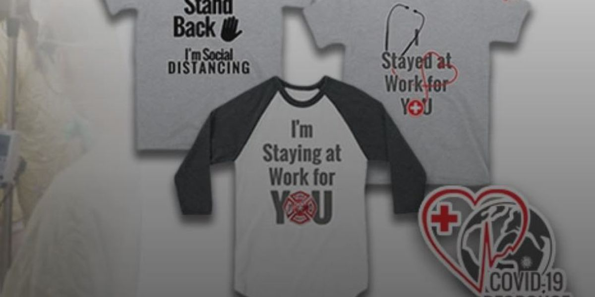 Local mom creates social distancing shirts for a good cause