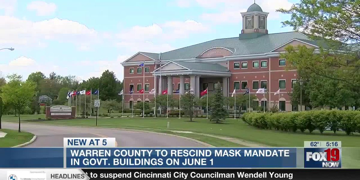 Mask mandate lifted in all Warren County buildings as of June 1