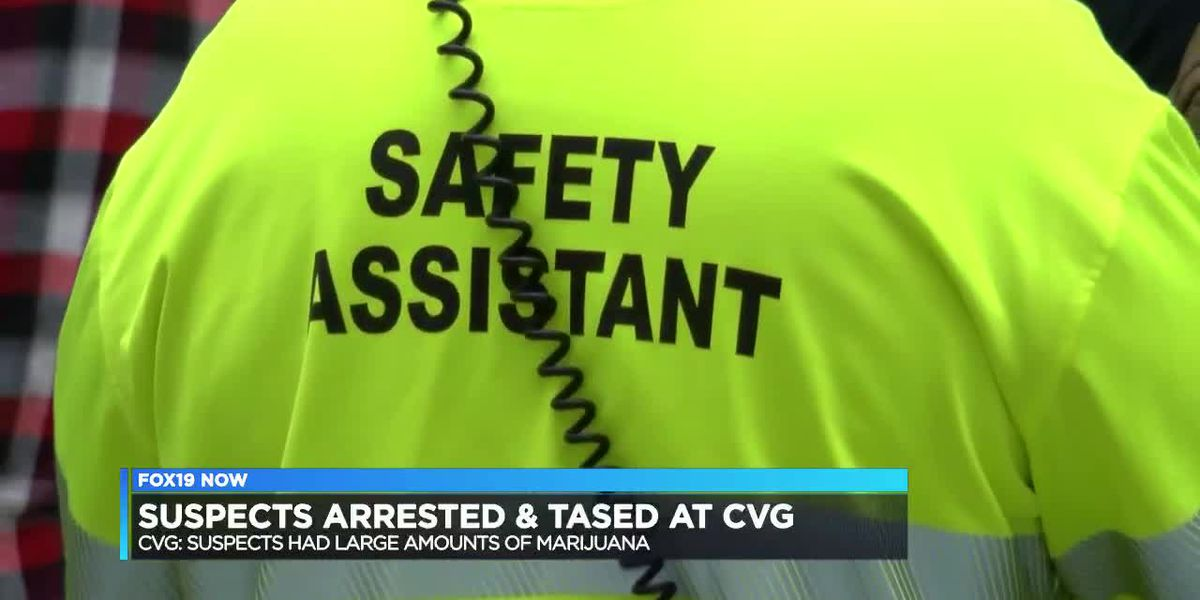 Suspect shocked with a Taser at CVG