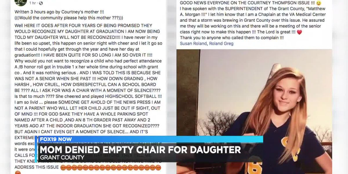 Mom denied empty chair for daughter