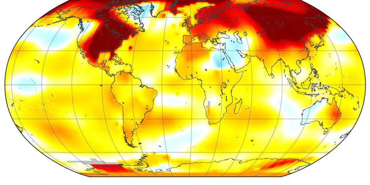 February 2017 second warmest February globally