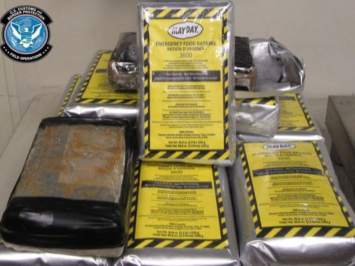 Officers seize $952K worth of cocaine found in emergency food pouches