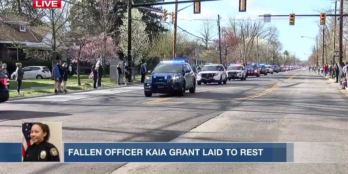 Funeral procession honoring fallen Springdale Officer, Kaia Grant