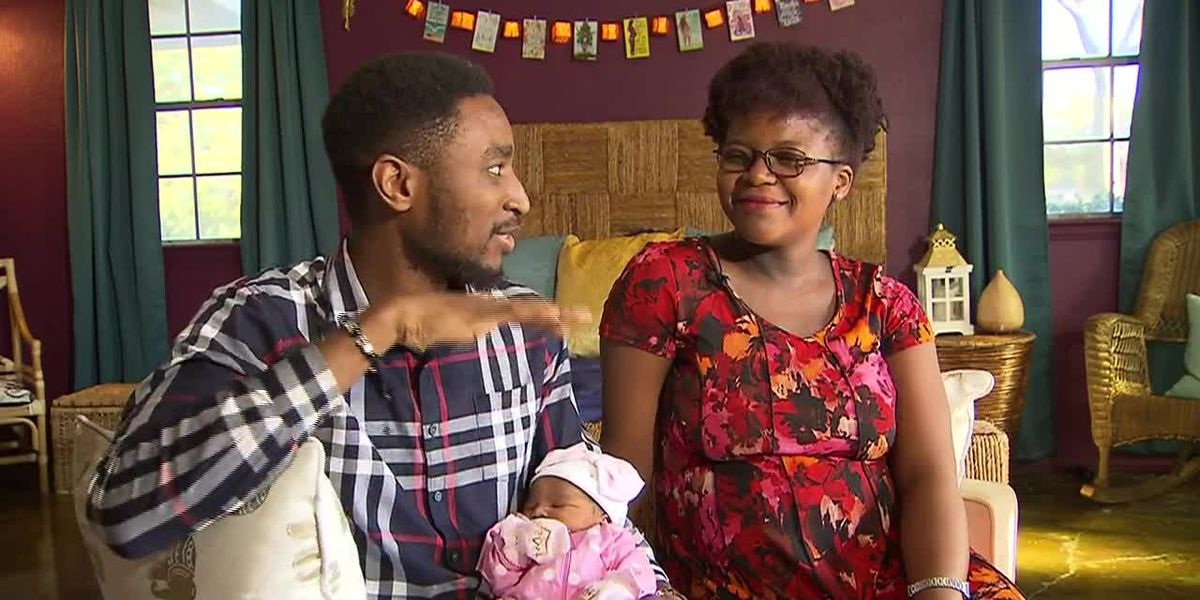 Mother gives birth in laundry room by candlelight during tornado