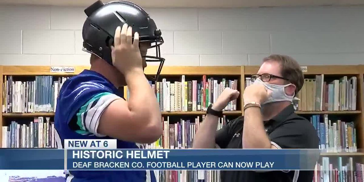 Deaf Bracken Co. football player can play with new helmet