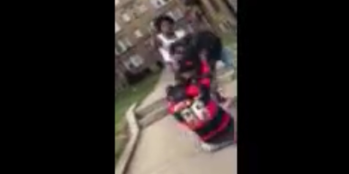 VIDEO: Mother jumps in fight with minors to defend child