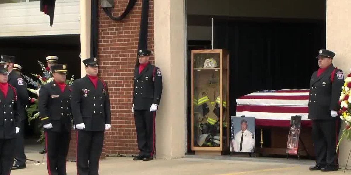 Farewell service held for Harrison deputy fire chief