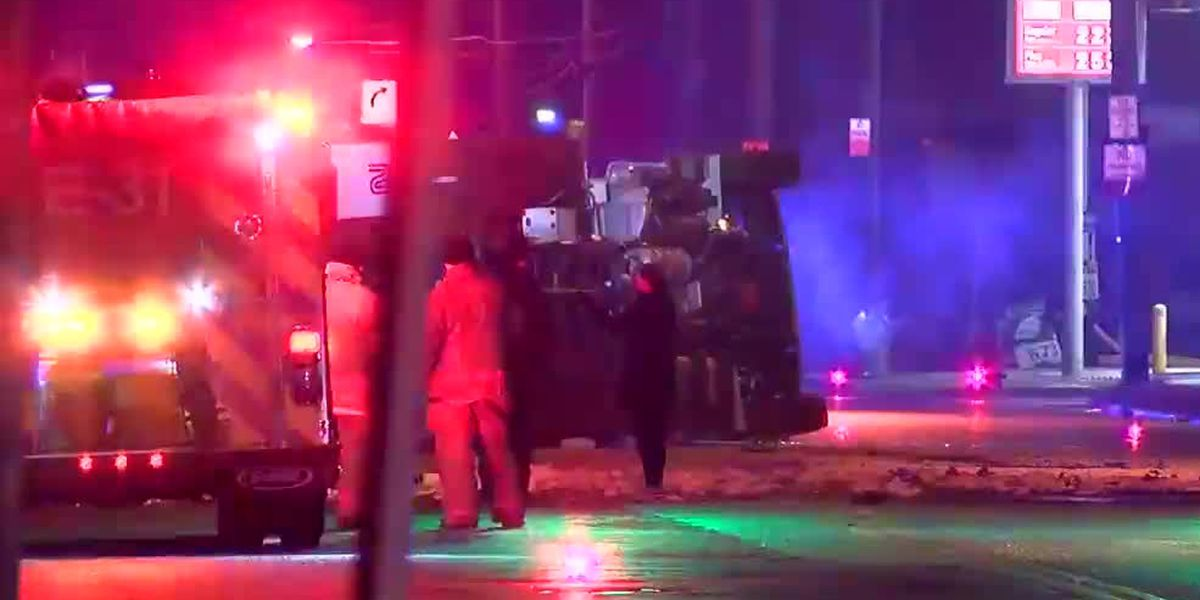Madison Road shut down in Madisonville due to semi crash