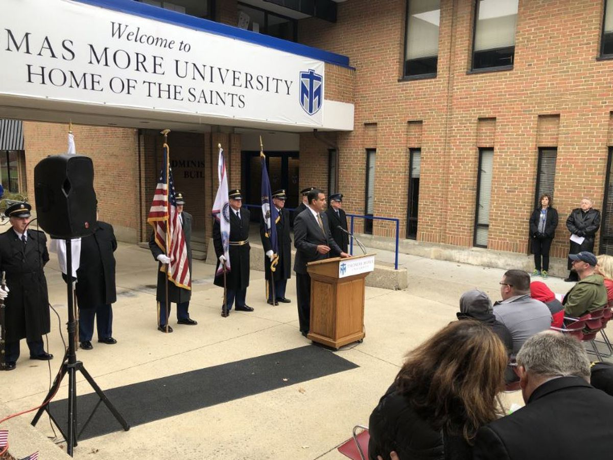Thomas More honors veterans with a veterans space grand opening