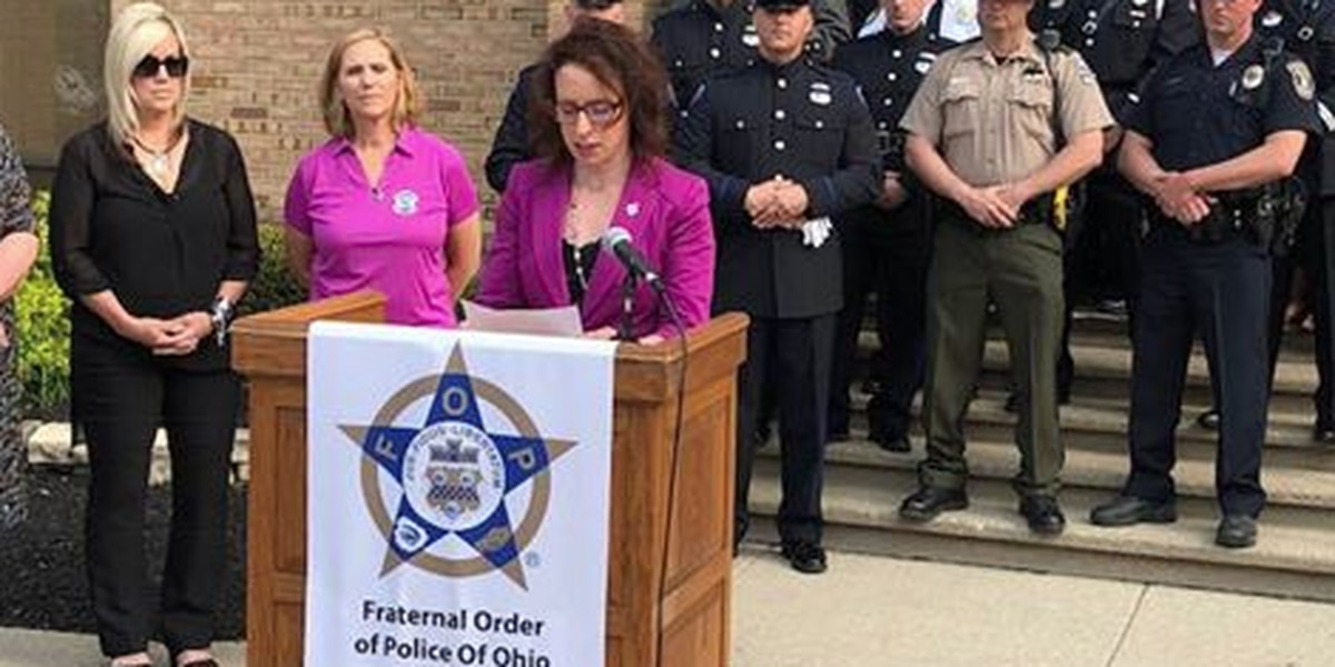 Slain Cincinnati cop's widow pushes for law change to expand death benefits for families of fallen officers, firefighters