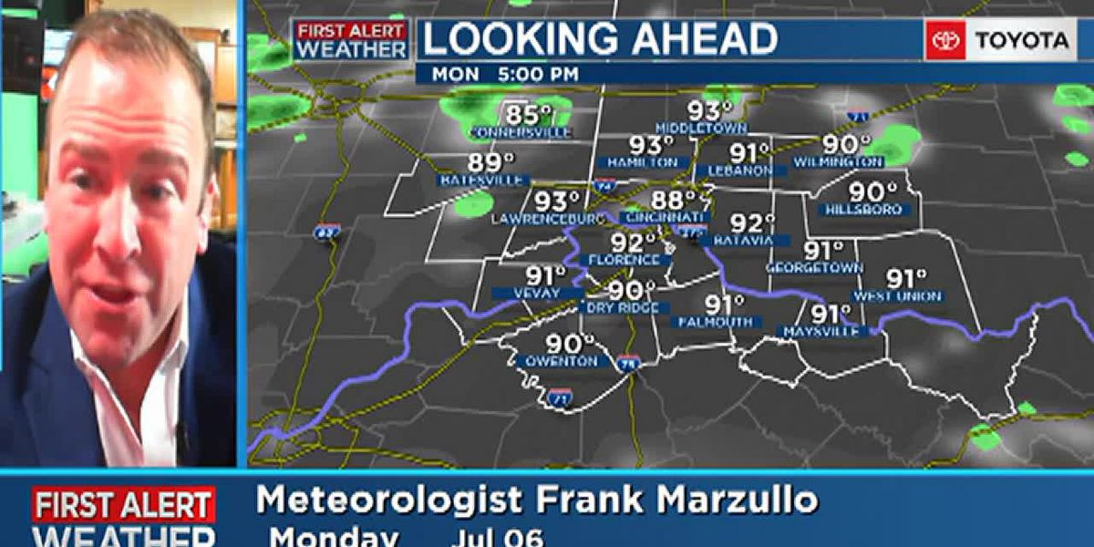 Frank's Monday morning forecast 7/6