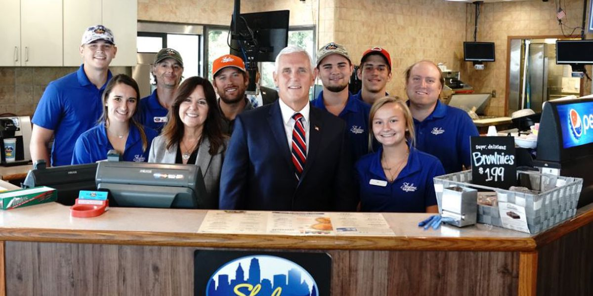 VP Mike Pence makes stops in the Tri-State ahead of Trump rally