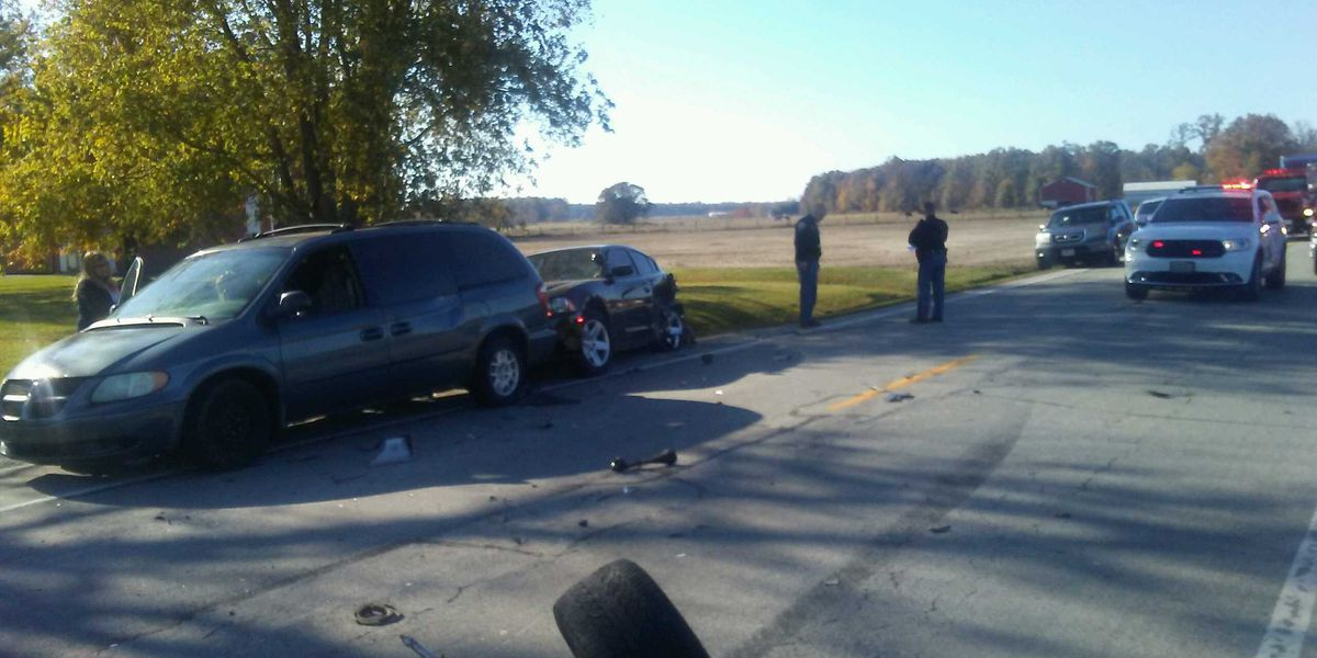 Trooper, police vehicle struck at traffic stop in SE Indiana