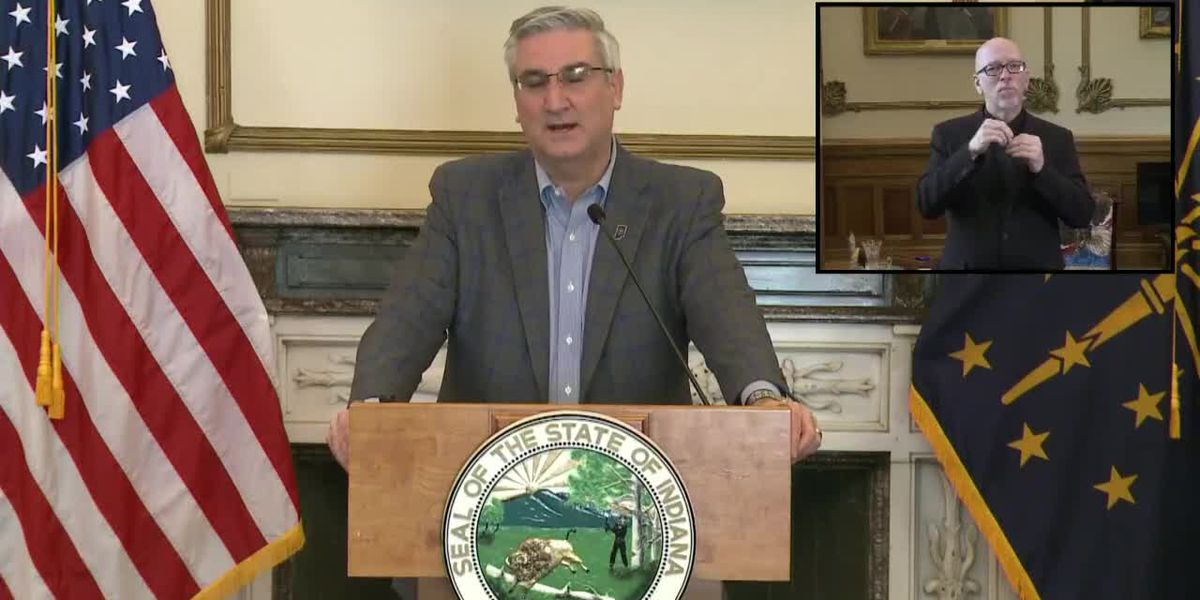 Indiana Gov. Eric Holcomb gives update on state's coronavirus response