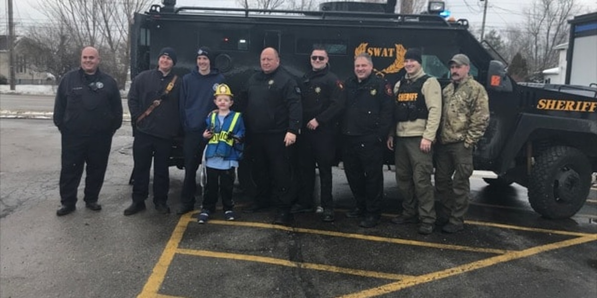 Franklin County first responders make dreams of 10-year-old boy with rare genetic disease come true