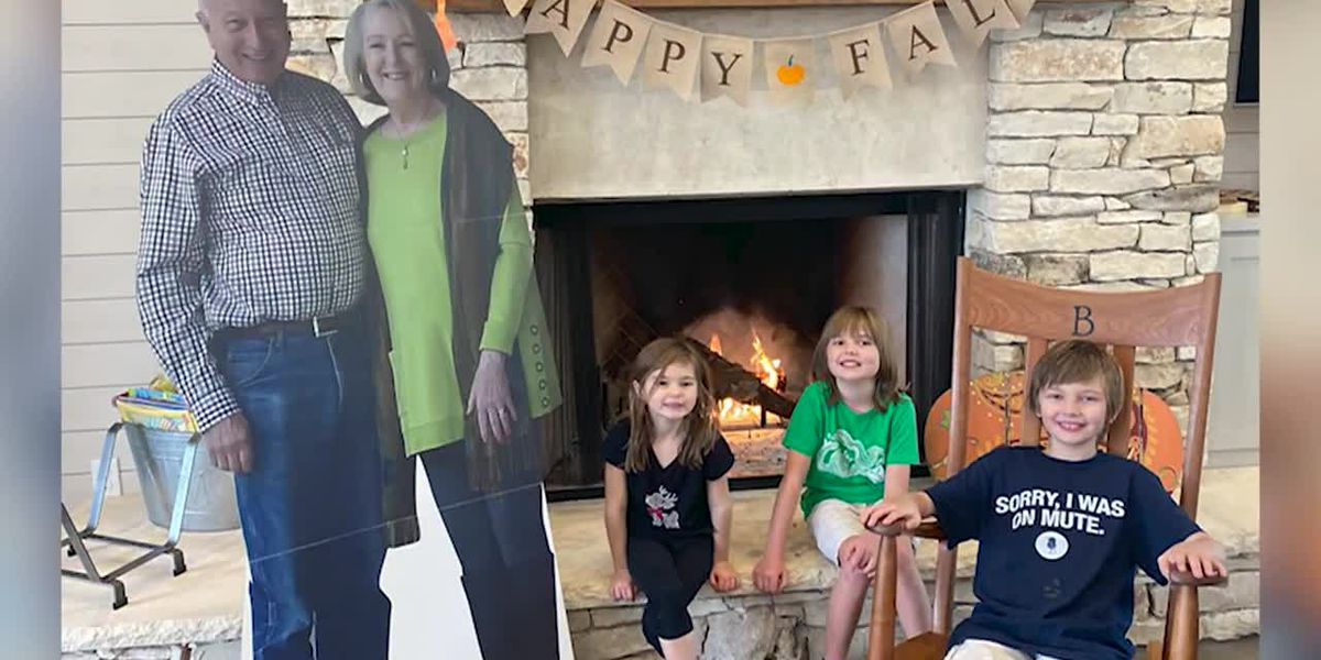 Grandparents send life-size cutouts to family instead of traveling during pandemic