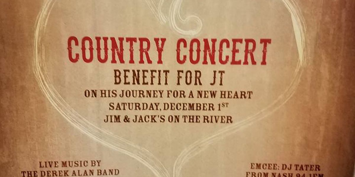 Country concert fundraiser planned for 5-year-old in need of a new heart
