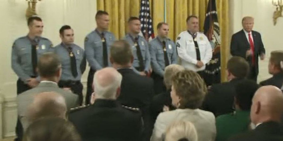 Dayton mass shooting first responders awarded Medal of Valor at White House