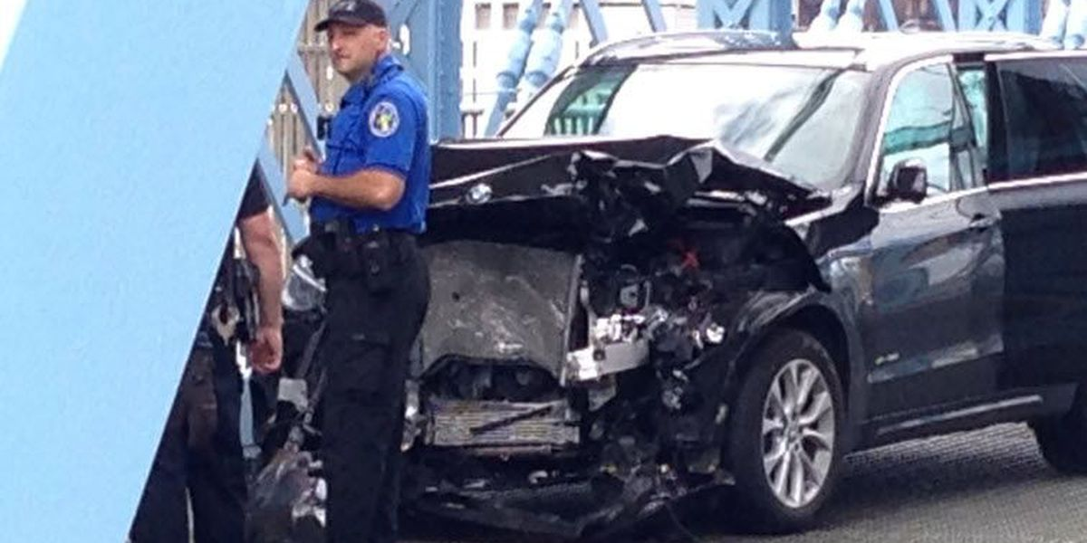 TRAFFIC: Roebling Suspension Bridge shut down in both directions due to an accident.