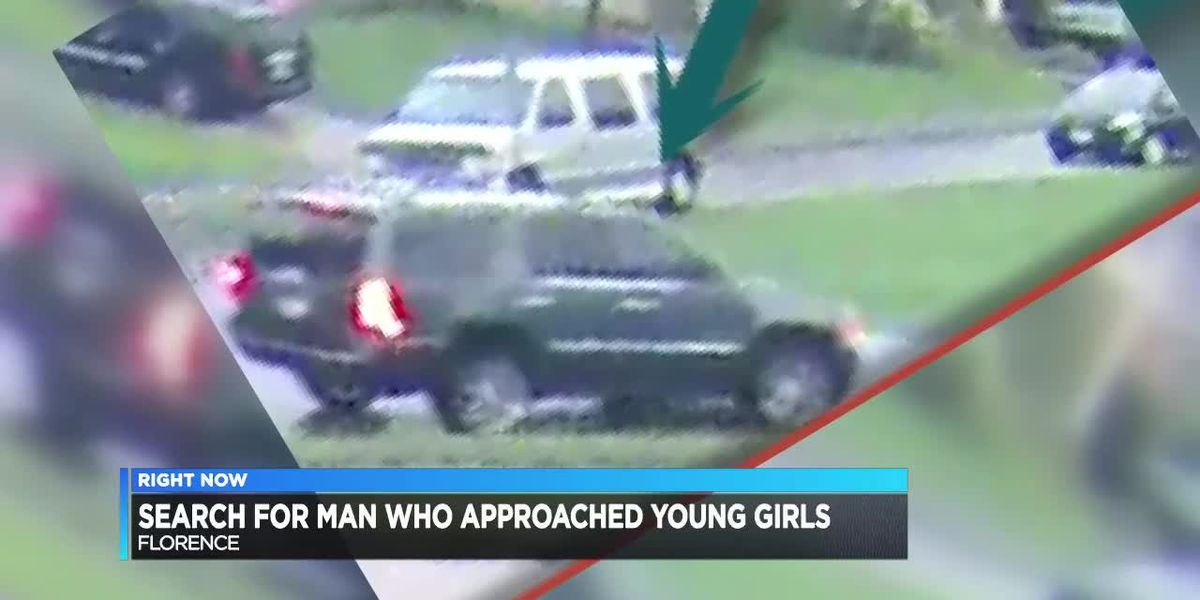Police search for man accused of approaching young girls