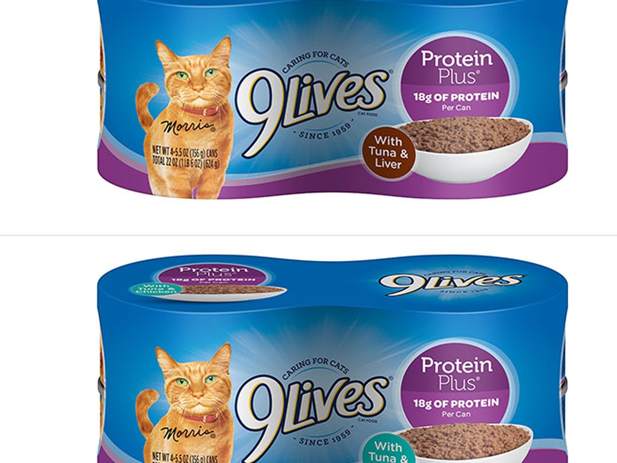 FDA recalls specific lots of 9Lives Protein Plus cat food due to low levels of thiamine