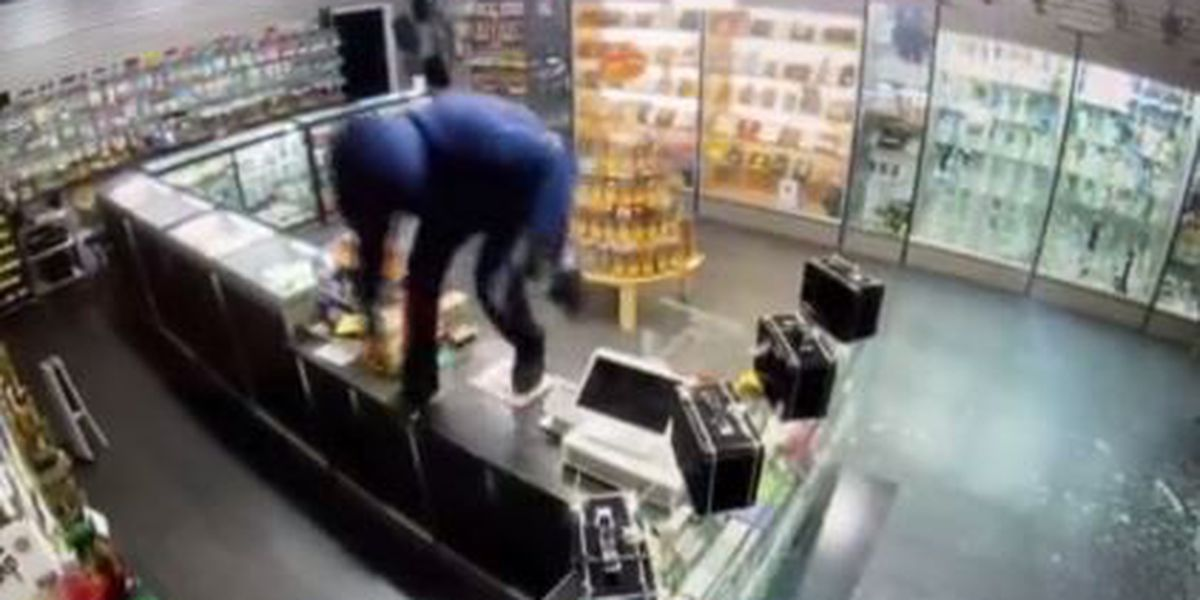 VIDEO: Police looking for suspect they say stole cash registers from 2 Westwood locations