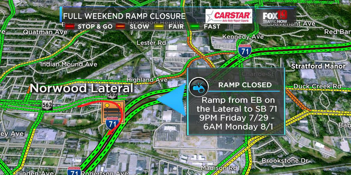 I-71 ramp closures could cause traffic headaches this weekend downtown
