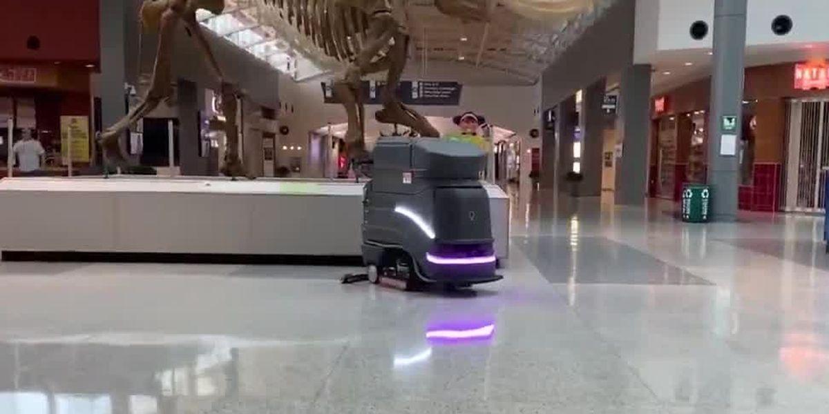 Meet the robot that keeps CVG clean as passengers return to gates