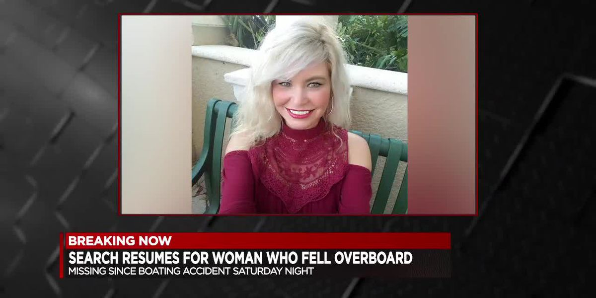 Search resumes for woman who fell overboard