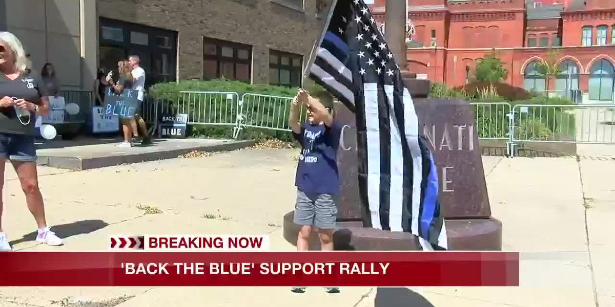 'Back the Blue' support rally held in Cincinnati
