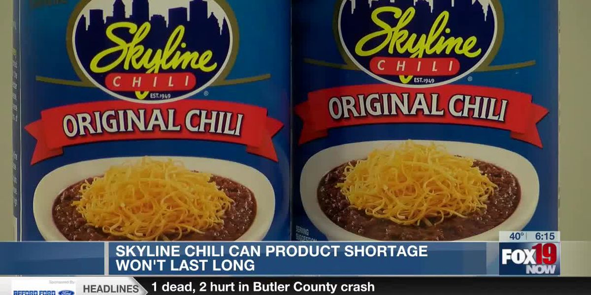 Skyline Chili can shortage won't last long