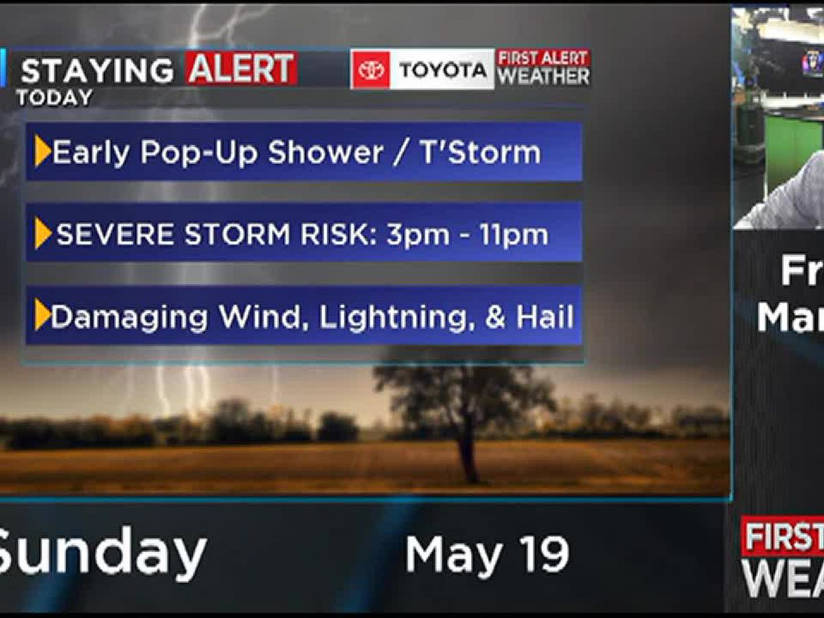 SEVERE STORM RISK THIS AFTERNOON