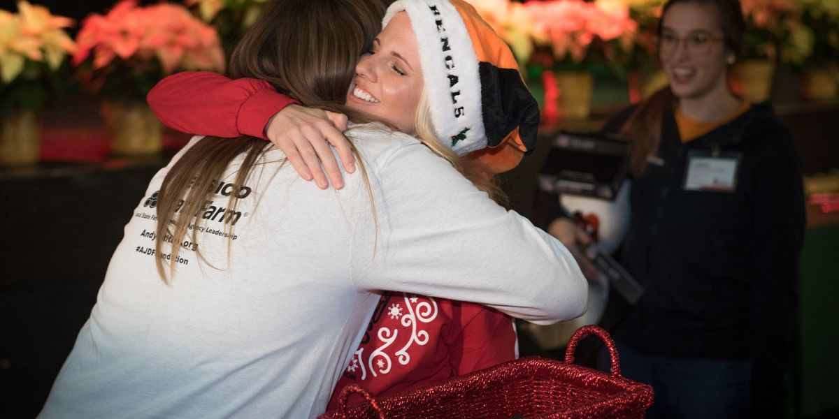 Andy and Jordan Dalton host holiday event for families of sick children