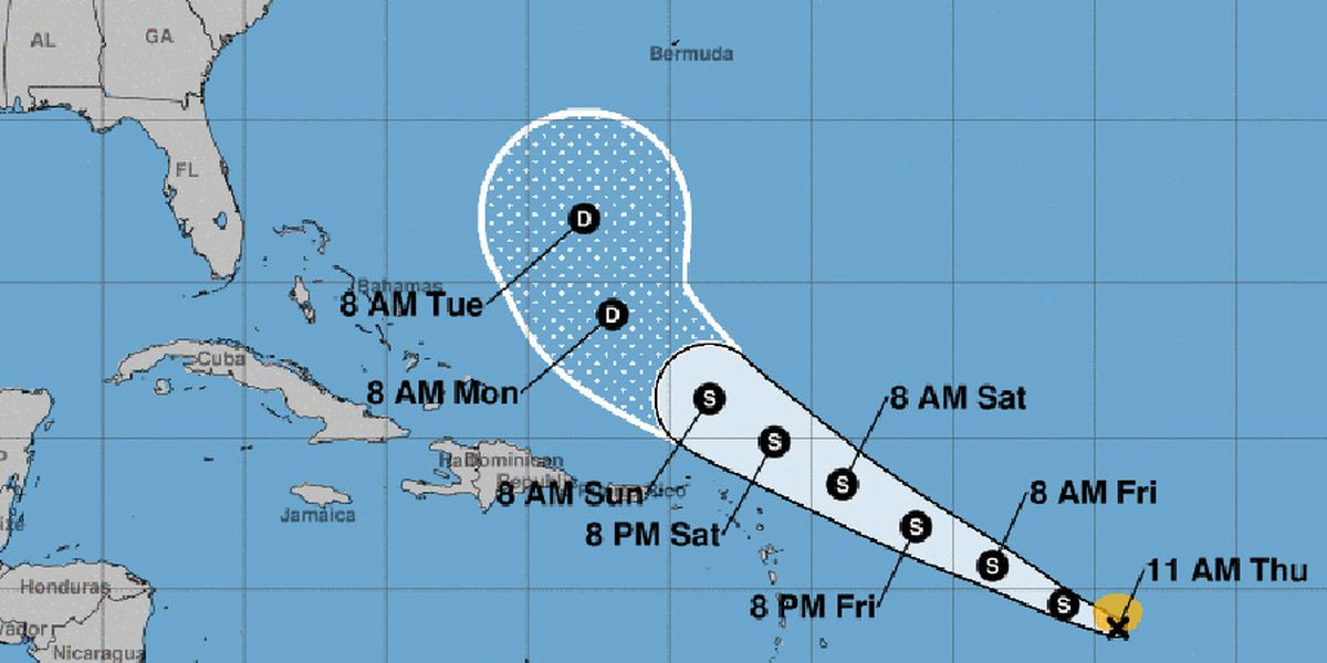Tropical Storm Josephine forms; no warnings in effect