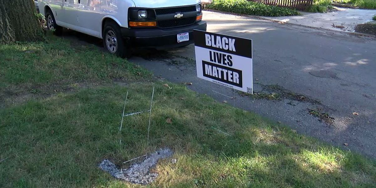 Several Ohio City Black Lives Matter yard signs burned to a crisp, Cleveland Police investigating crimes as racially motivated