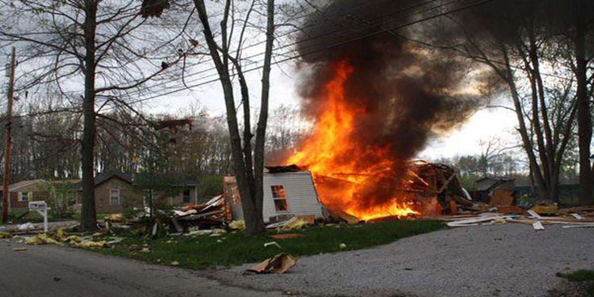 Clermont County home explodes into pile of rubble