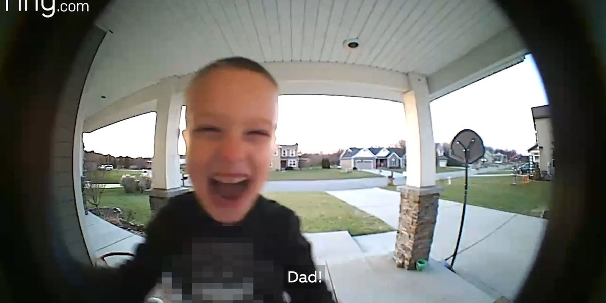 CUTE VIDEO: Child uses doorbell to call dad at work when he needs help with TV