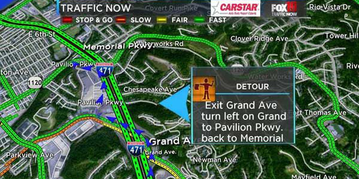 Ramp from NB I-471 to Memorial Parkway closes Sunday-June 19