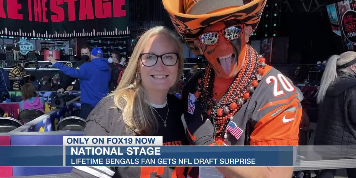 Bengals fan gets lifetime experience at NFL Draft