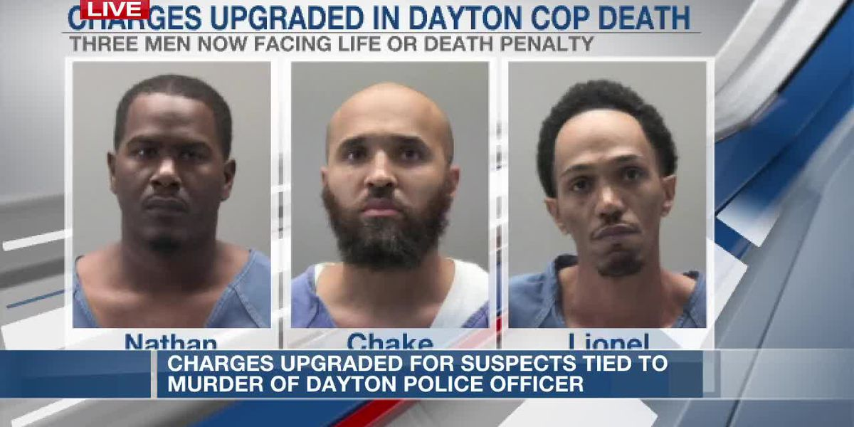 Charges upgraded for suspects tied to murder of Dayton officer