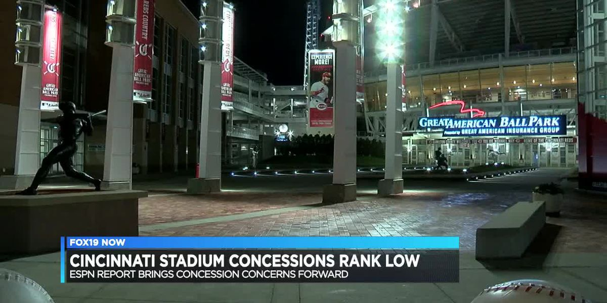 Cincinnati stadium concessions rank low