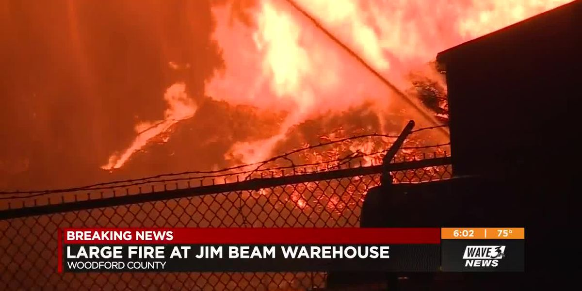 Jim Beam warehouses catch on fire