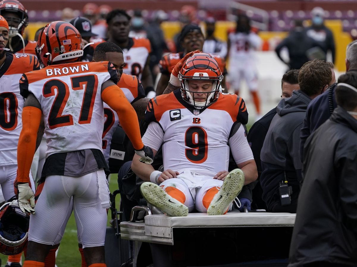 Bengals can't overcome Burrow injury, lose road game at Washington