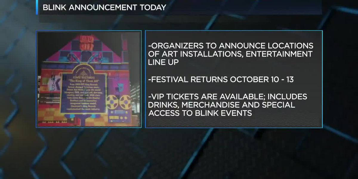BLINK to announce interactive installations and entertainment