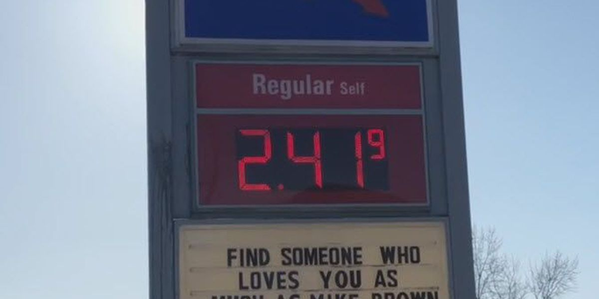 Gas station offers love advice for unhappy Bengals fans