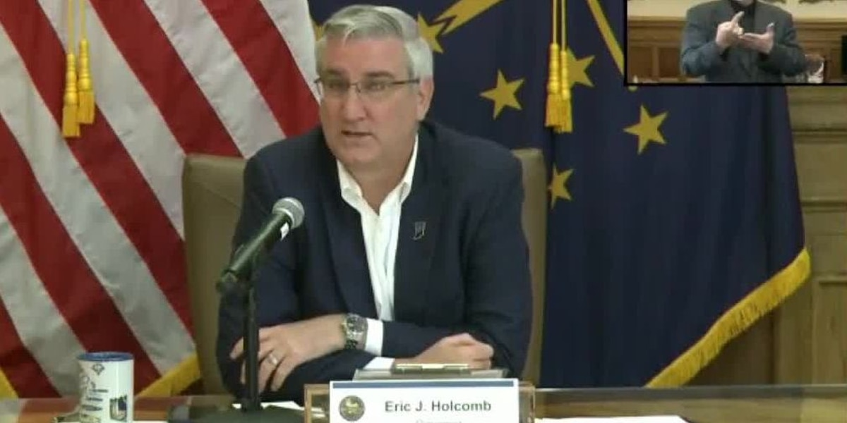 WATCH LIVE: Gov. Eric Holcomb updates Indiana's fight against COVID-19