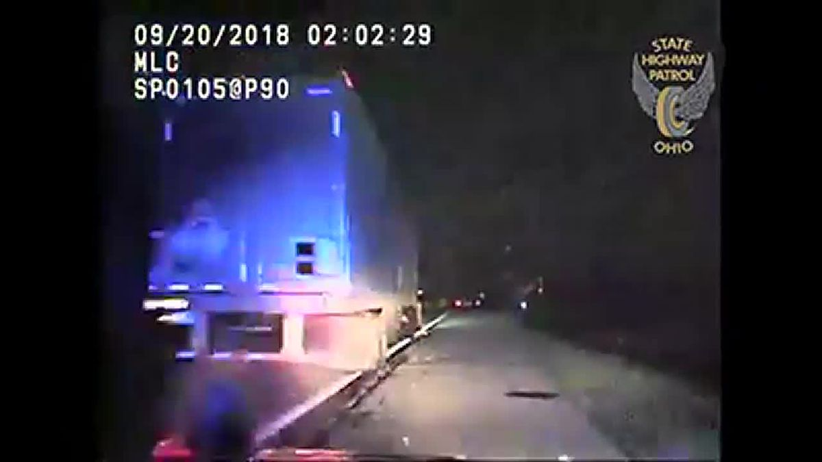 Ohio State Highway Patrol looking for driver who hit patrol cruiser, fled